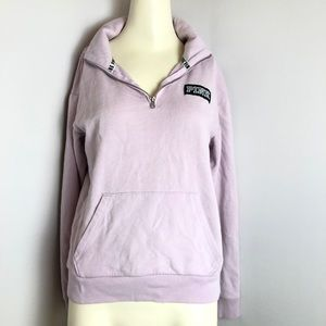 VICTORIA SECRET PINK quarter zip purple pullover